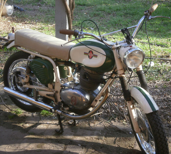 Motorcycle Gilera Spring Country 185 1968