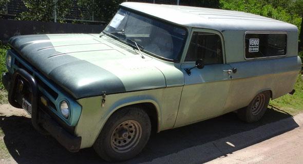 Car Dodge Furgón 1969