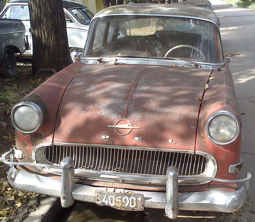 Auto Opel Rekord 1959 Coup�