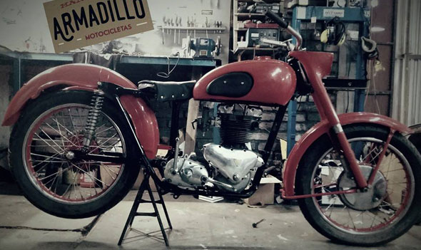 Motorcycle Triumph T110 650