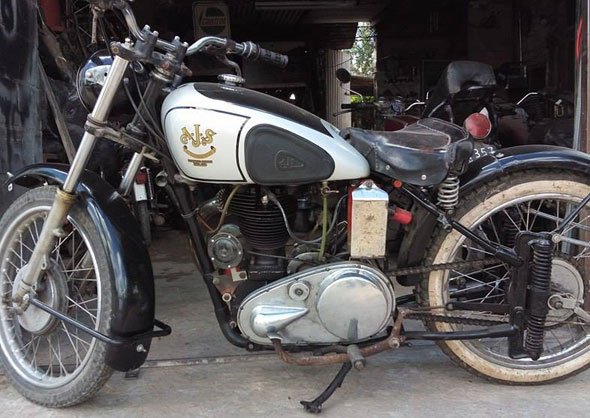 AJS Antiguo Motorcycle