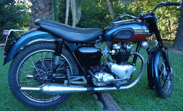 Motorcycle Triumph T110 1954