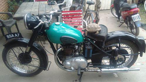 Motorcycle BSA A7