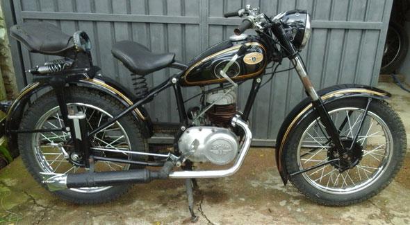 Motorcycle Zundapp DB201 1953