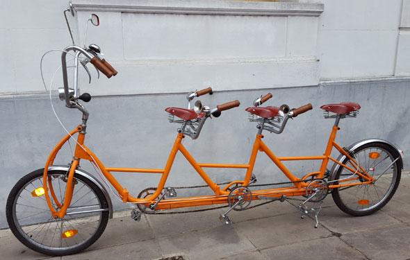 Bike Tandem Triple Bicicleta