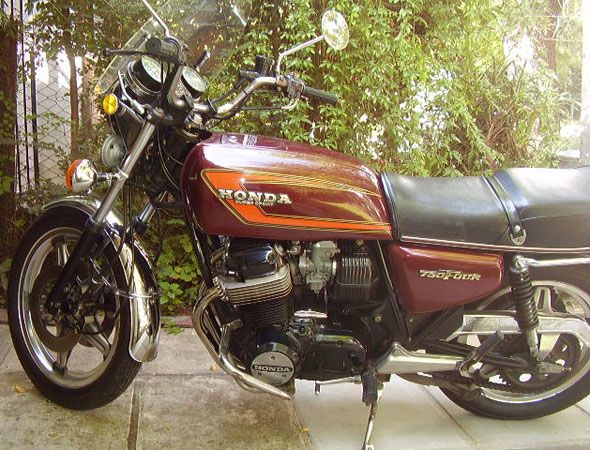Motorcycle Honda 750 Four Super Sport