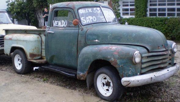 Auto Chevrolet Sapo 1953