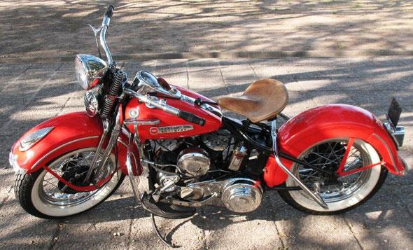 Moto Harley Davidson 1948