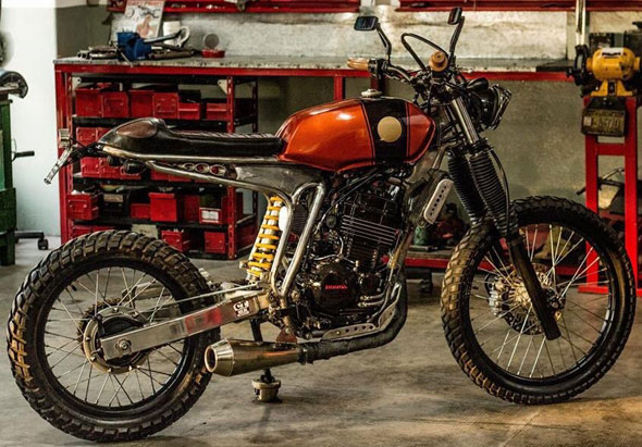 Motorcycle Honda Tornado Street Tracker