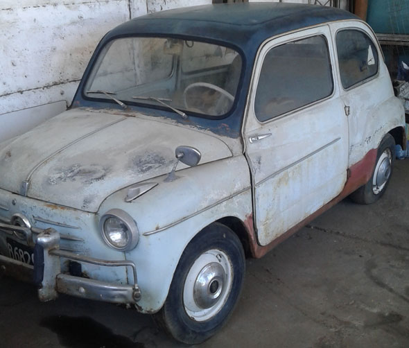 Auto Fiat 600 1958