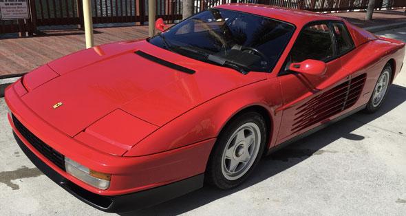 Car Ferrari Testarossa 1986