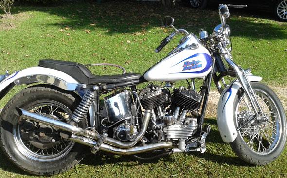 Motorcycle Harley Davison 1200 F 1947