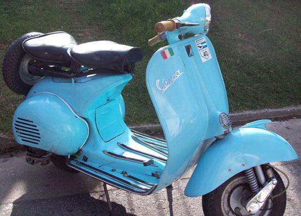Motorcycle Vespa Piaggio 1956
