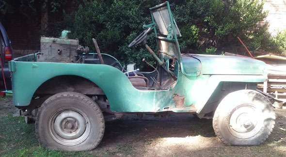 Car Overland Jeep Willys CJ2A