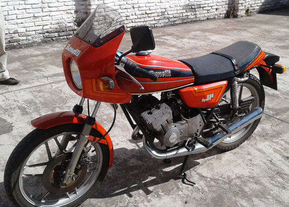Motorcycle Benelli 125 Sport 1980