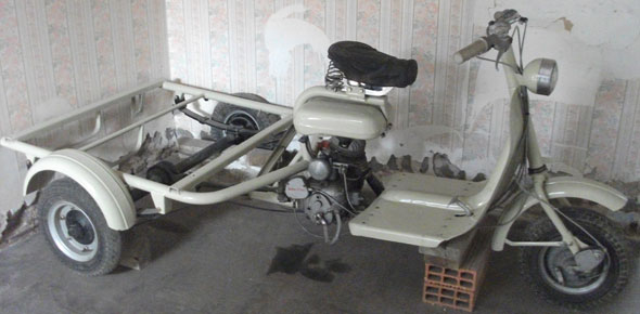 Motorcycle Siambretta Motofurgón