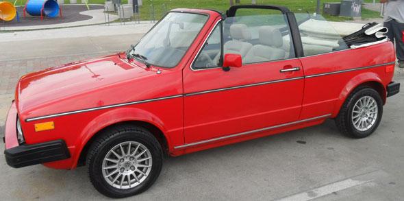 Auto Volkswagen Golf Cabriolet