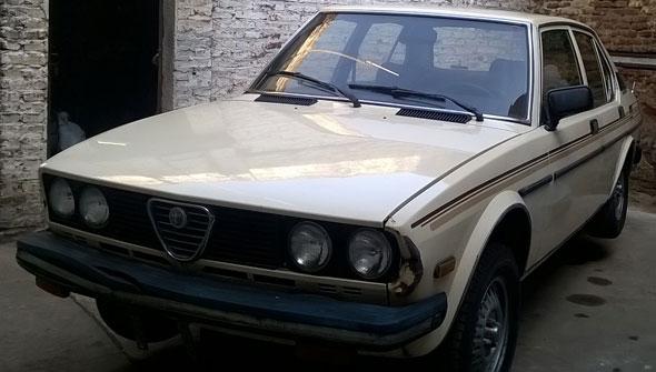 Car Alfa Romeo Sport Sedán Automatic 1978