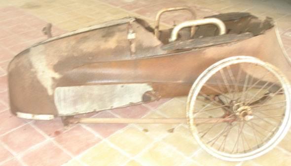 Moto Triumph Sidecar 1920